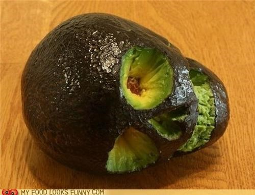 avocado,carved,morbid,skull,yummy