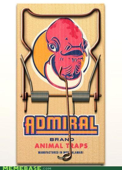 admiral ackbar,ewok,literal,mouse,pun,star wars,trap
