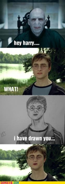 drawing,Harry Potter,Lord Voldemort