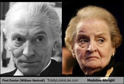 actors,doctor who,Madeleine Albright,politicians,william hartnell