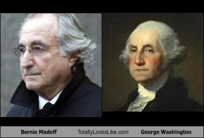Bernie Madoff,george washington,money,ponzi scheme,presidents