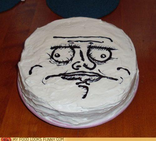 cake,ew,frosting,i like it,me gusta,meme,Rageguy,um