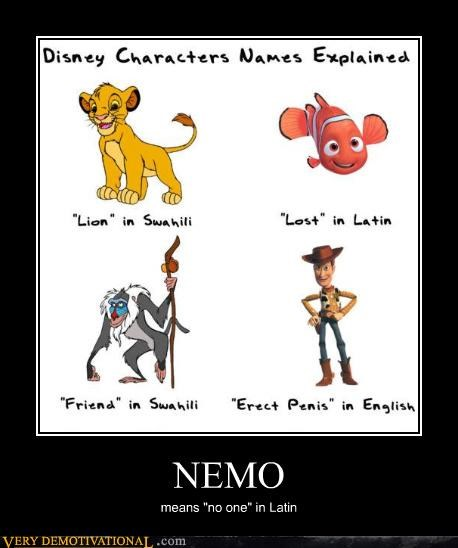 """NEMO means """"no one"""" in Latin"""
