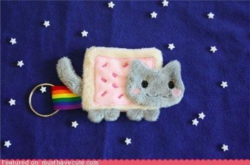 cat meow Nyan Cat poptart rainbow - 4797931008