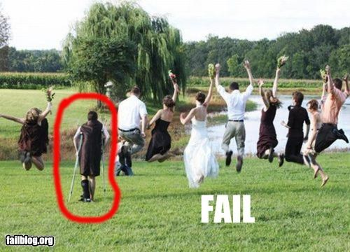 crutches failboat g rated handicapped marriage photography poll pose wedding