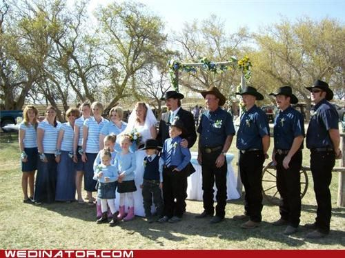 Cowboys,funny wedding photos,wedding party
