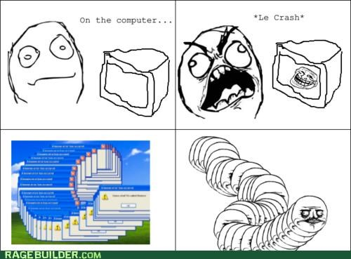 centipede,crash,me gusta,Rage Comics,windows