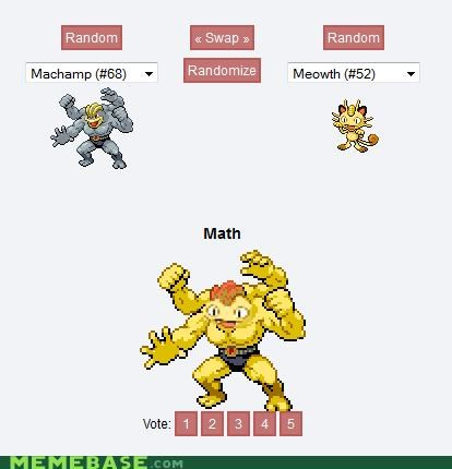 fusion,Machamp,math,Meowth,Pokémemes