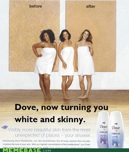 ads dove Memes placement racist skinny subliminal - 4798359808