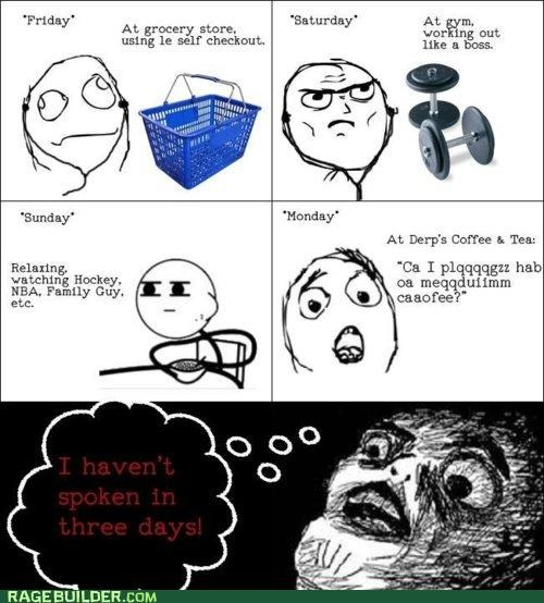 lonely Rage Comics silence speaking