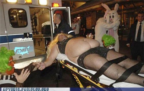 ambulance oompa loompa overdose passed out rabbit stretcher wtf