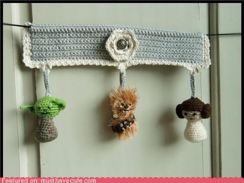 Amigurumi Babies characters chewbacca crochet Princess Leia star wars yoda - 4798552064