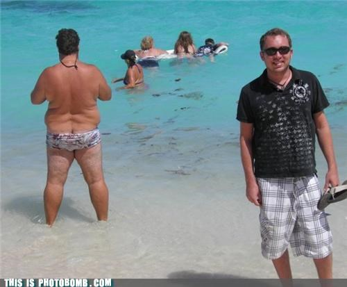 beach fat guy pose speedo swim what an ass - 4798782208