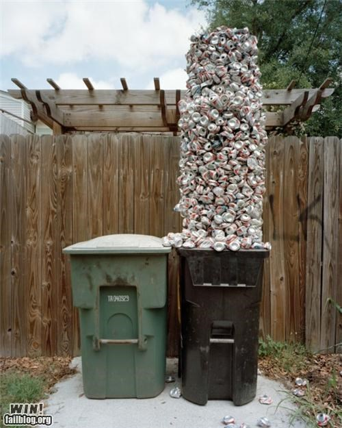 balance beer beer cans recycling stacking - 4798783744