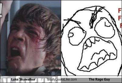 angry fffuuu luke skywalker Mark Hamill Memes Rage Comics ragetoons star wars - 4798801920