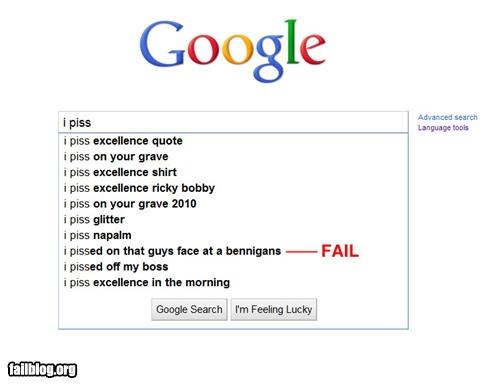 Autocomplete Me,bennigans,failboat,google,gross,internet,pee,search,urine