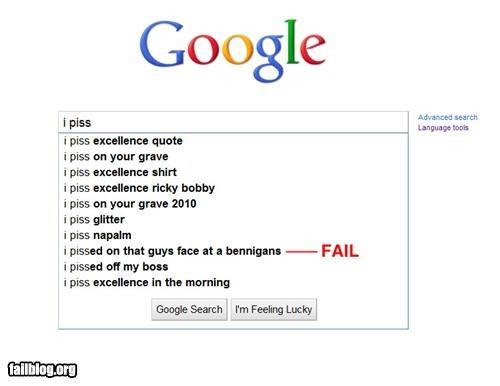 Autocomplete Me bennigans failboat google gross internet pee search urine - 4798816768