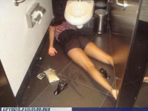 bathroom,face down,passed out