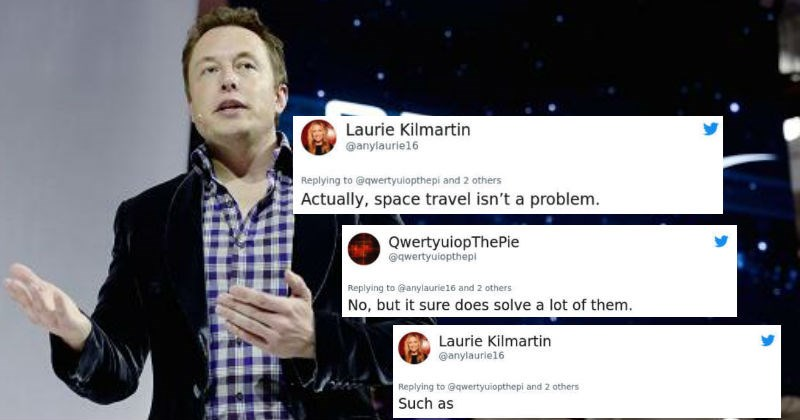 Woman gets destroyed on Twitter after giving Elon Musk a hard time about SpaceX.
