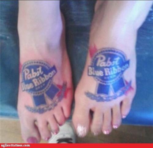 BFFs brand loyalty drinking foot tats pbr words - 4799051776