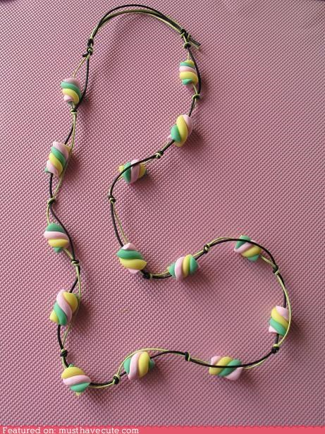 beads Jewelry marshmallow necklace - 4799087872