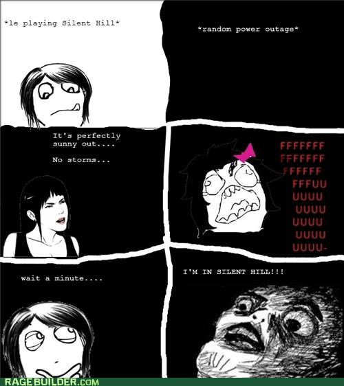 power outage,Rage Comics,scary,silent hill