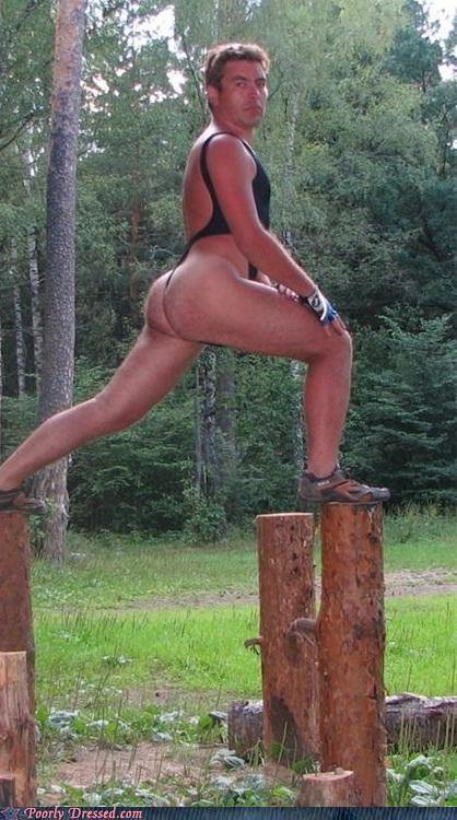 lumberjack thong unitard working out - 4799422720