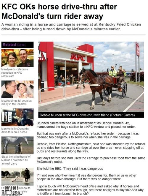 competition,completely relevant news,drive thru,fast food,kfc,McDonald's