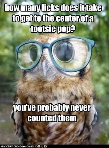 how many licks does it take to get to the center of a tootsie pop? you've probably never counted them