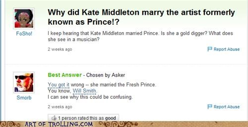 fresh prince,prince,prince caspian,royal wedding,Yahoo Answer Fails