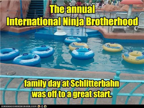 The annual International Ninja Brotherhood family day at Schlitterbahn was off to a great start.