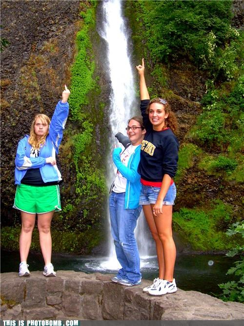 anger management,lady sass,middle finger,the bird,waterfall