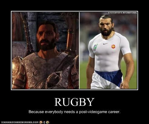 RUGBY Because everybody needs a post-videogame career.