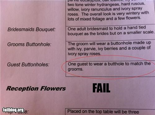 Florist fail Planning for your special day