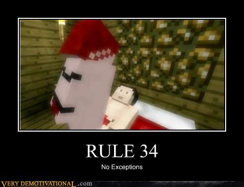 Meme about rule 34 of Minecraft users too