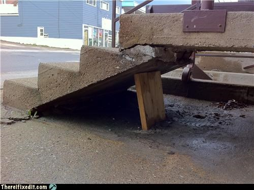 concrete holding it up home improvement stairs woody - 4801544448