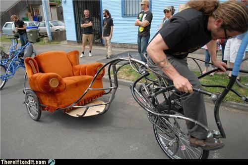 bicycle bike chair dual use furniture weird wtf - 4801605376