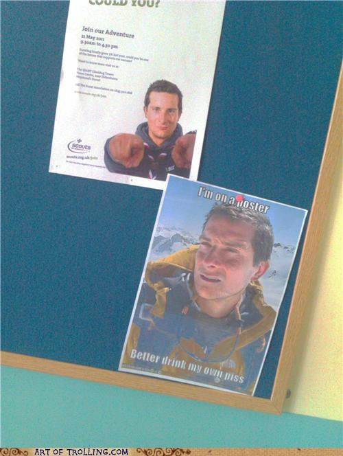 bear grylls,drink,IRL,piss