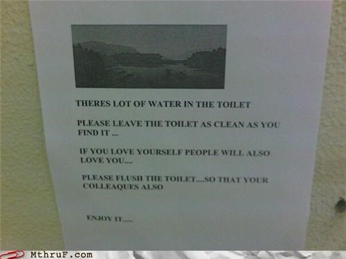 bad english,flush,sign,toilet