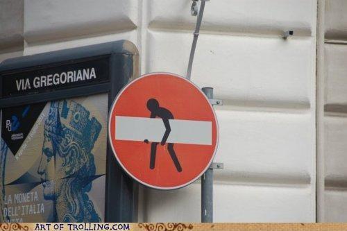 do not enter IRL sick figure sign - 4801927680