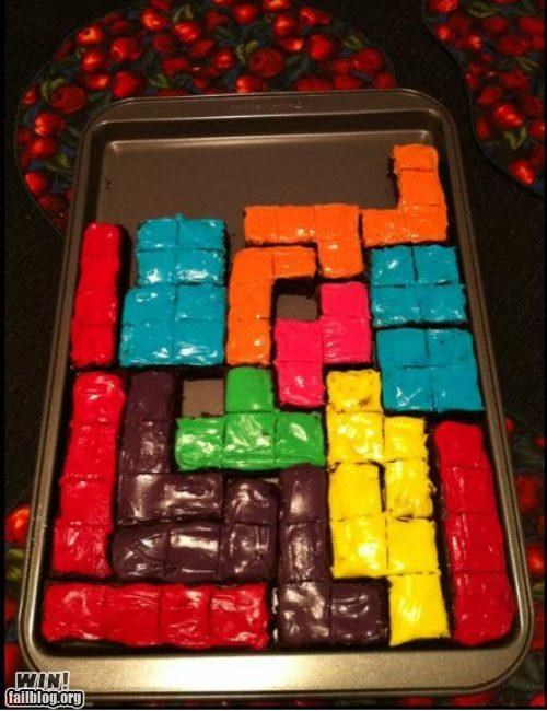 brownies,food,tetris,yum