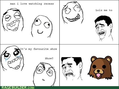 pedobear,Rage Comics,recess,tv show