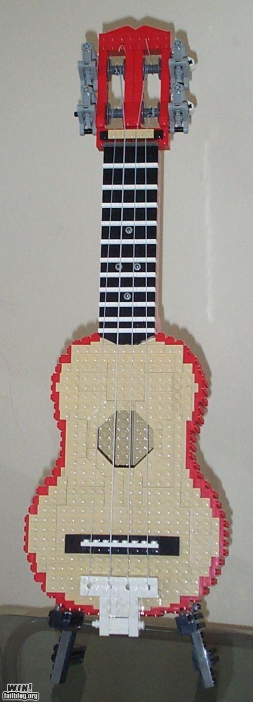 awesome guitar lego ukulele