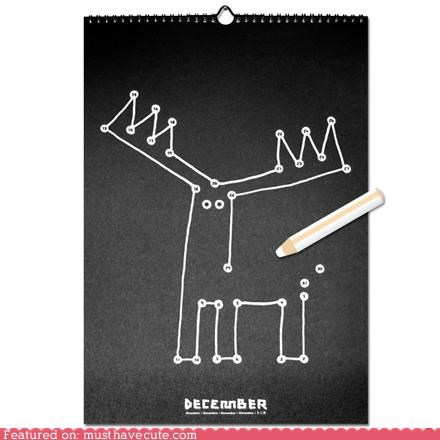 calendar conntct the dots craft cute DIY drawing kids
