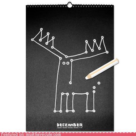 calendar conntct the dots craft cute DIY drawing kids - 4802605312