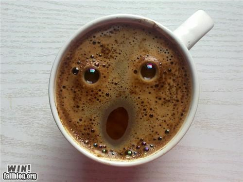 amazed coffee faces food team breakfast food