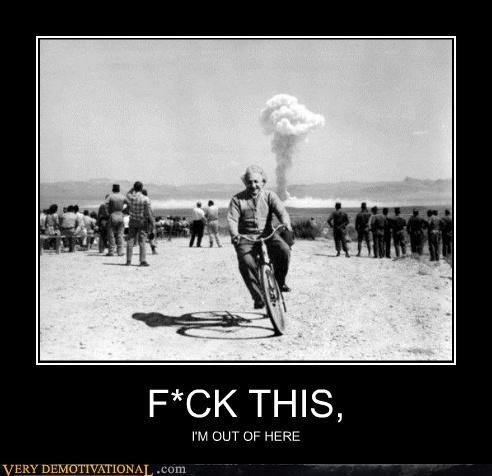 albert einstein,bicycle,hilarious,nuclear testing