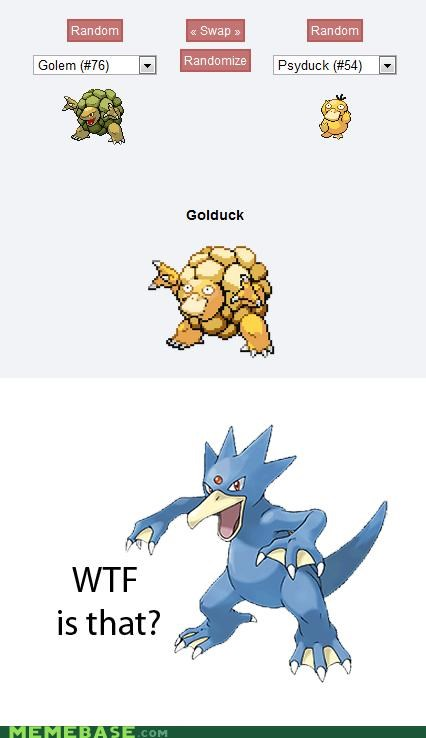 fusion golduck golem Pokémemes Psyduck wtf is this