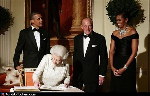afro barack obama duke of edinburgh hair Michelle Obama plant Prince Philip - 4802904832