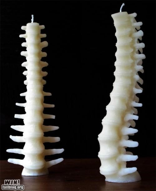 awesome bones candles spines